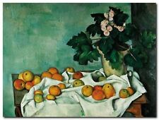 Quadro Paul Cezanne 'Apples and Primroses' Stampa su Tela Canvas