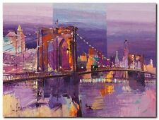 Quadro Luigi Florio 'Brooklyn Bridge' Stampa su Tela Canvas