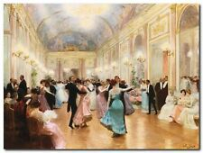 Quadro Victor Gabriel Gilbert 'The Ball' Stampa su Tela Canvas
