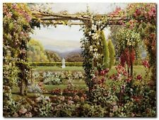Quadro Robert Atkinson 'The Rose Garden ' Stampa su Tela Canvas