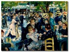 Quadro Renoir  'Dance at Le Moulin de la Galette' Stampa su Tela Canvas