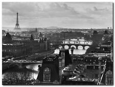 Quadro Peter Turnley 'River Seine and the City of Paris' Stampa su Tela Canvas