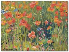 Quadro Robert William Vonnoh 'Papaveri' Stampa su Tela Canvas