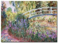 Quadro Claude Monet 'The Japanese Bridge' Stampa su Tela Canvas
