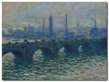 Quadro Claude Monet 'Waterloo Bridge, London' Stampa su Tela Canvas