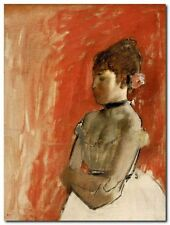 Quadro Edgar Degas 'Ballet Dancer with arms crossed' Stampa su Tela Canvas