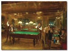 Quadro Jean Beraud 'The Billiards' Stampa su Tela Canvas