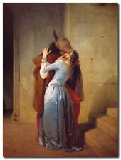 Quadro Francesco Hayez 'The Kiss ' Stampa su Tela Canvas