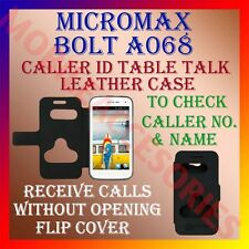 ACM-CALLER ID TABLE TALK CASE for MICROMAX BOLT A068 MOBILE FLIP PROTECT COVER