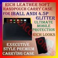 ACM-RICH LEATHER SOFT CARRY CASE for IBALL ANDI 4.5P GLITTER MOBILE COVER POUCH