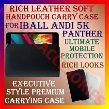 ACM-RICH LEATHER SOFT CARRY CASE for IBALL ANDI 5K PANTHER MOBILE COVER POUCH