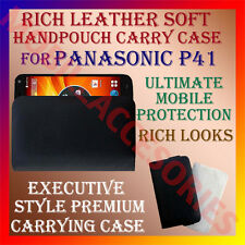 ACM-RICH LEATHER SOFT CARRY CASE for PANASONIC P41 MOBILE HANDPOUCH COVER HOLDER