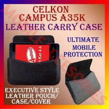 ACM-HORIZONTAL LEATHER CARRY CASE for CELKON CAMPUS A35K MOBILE POUCH COVER NEW