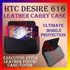 ACM-HORIZONTAL LEATHER CARRY CASE for HTC DESIRE 616 MOBILE POUCH COVER HOLDER