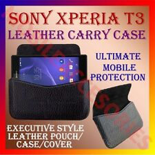 ACM-HORIZONTAL LEATHER CARRY CASE for SONY XPERIA T3 MOBILE POUCH COVER HOLDER