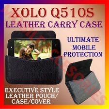 ACM-HORIZONTAL LEATHER CARRY CASE for XOLO Q510S MOBILE RICH POUCH COVER HOLDER