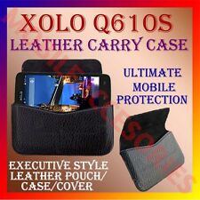 ACM-HORIZONTAL LEATHER CARRY CASE for XOLO Q610S MOBILE POUCH RICH COVER HOLDER