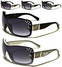 NEW DESIGNER SUNGLASSES KLEO LADIES WOMENS GIRLS WHITE BLACK SHIELD WRAP UV400