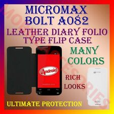 ACM-LEATHER DIARY FOLIO FLIP FLAP CASE for MICROMAX BOLT A082 FRONT/BACK COVER