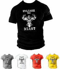 Mens GYM BODYBUILDING MMA MOTIVATION T-Shirt BEST WORKOUT CLOTHING TRAINING TOP