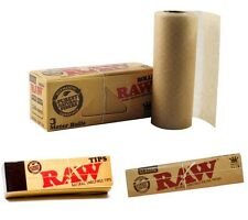 Classic RAW Cigarette Authentic Natural Unrefined Tobacco Rolling Papers & Tips