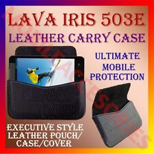 ACM-HORIZONTAL LEATHER CARRY CASE for LAVA IRIS 503E MOBILE POUCH HOLDER COVER