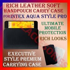 ACM-RICH LEATHER SOFT CARRY CASE for INTEX AQUA STYLE PRO MOBILE HANDPOUCH COVER