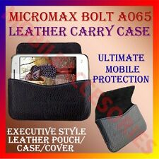 ACM-HORIZONTAL LEATHER CARRY CASE for MICROMAX BOLT A065 MOBILE POUCH COVER CASE