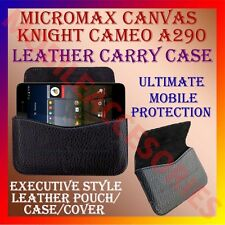 ACM-HORIZONTAL LEATHER CARRY CASE for MICROMAX CANVAS KNIGHT CAMEO A290 COVER
