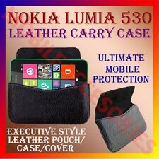 ACM-HORIZONTAL LEATHER CARRY CASE for NOKIA LUMIA 530 MOBILE POUCH HOLDER COVER