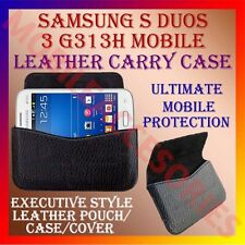 ACM-HORIZONTAL LEATHER CARRY CASE for SAMSUNG S DUOS 3 G313H MOBILE POUCH COVER