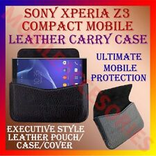 ACM-HORIZONTAL LEATHER CARRY CASE for SONY XPERIA Z3 COMPACT MOBILE POUCH COVER
