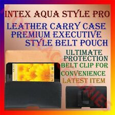 ACM-BELT CASE for INTEX AQUA STYLE PRO MOBILE LEATHER CARRY POUCH COVER HOLDER