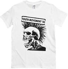 T-shirt Youth Movement 83, maglietta bianca, poster concerto Punk Rock 1983