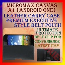 ACM-BELT CASE for MICROMAX CANVAS A1 (ANDROID ONE) MOBILE LEATHER POUCH COVER