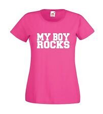 MY BOY ROCKS funny boyfriend husband valentines day wedding  mens womens T SHIRT