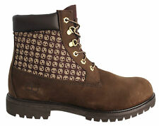 Timberland 6 Inch Panel Mens Boots Brown Leather Lace Up Casual 36524 D35