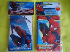 6 SPIDERMAN INVITATIONS - AMAZING or ULTIMATE - BIRTHDAY PARTY - MARVEL