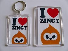I LOVE ZINGY EDF ENERGY  Keyring or Fridge Magnet GIFT PRESENT IDEA