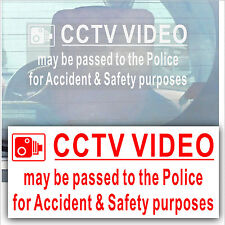 CCTV Video Passed to Police- Camera Security Sticker-Van,Truck,Taxi,Cab,Car Sign