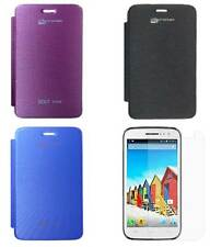 Premium Flip Book Cover Case for Micromax Bolt A069 With Screen Guard
