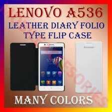 ACM-LEATHER DIARY FOLIO FLIP FLAP CASE for LENOVO A536 MOBILE FRONT/BACK COVER