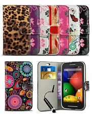 Pattern Case Cover for Alcatel One Touch OT3040 Phone Wallet Flip & Mini Stylus