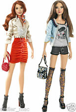 "Rare Barbie Stardoll 12"" Bonjour Bizou Brunette Redhead Fashion Style With Stand"