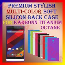 ACM-PREMIUM MULTI-COLOR SOFT SILICON BACK CASE of KARBONN TITANIUM OCTANE COVER