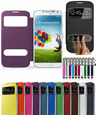 For Samsung S3 Mini I8190 Two Window Battery S View Flip Case Cover &Retractable