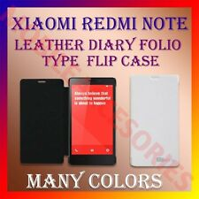 ACM-LEATHER DIARY FOLIO FLIP FLAP CASE for XIAOMI REDMI NOTE FRONT & BACK COVER