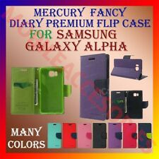 ACM-MERCURY PREMIUM DIARY FLIP FLAP CASE for SAMSUNG GALAXY ALPHA WALLET COVER