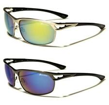 NEW SUNGLASSES MENS LADIES UNISEX BLACK UV400 LENS SPORTS METAL AVIATOR WRAP