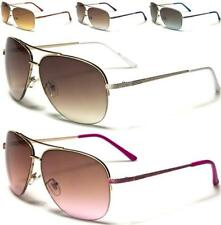 NEW SUNGLASSES WHITE PINK DESIGNER LADIES WOMENS GIRLS RETRO AVIATOR LARGE UV400